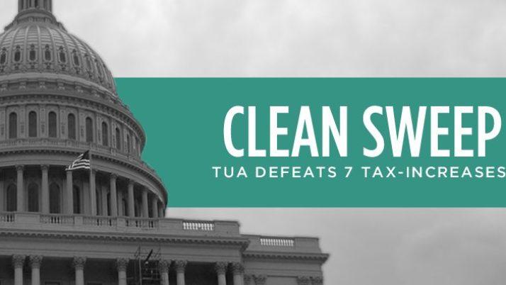 Clean Sweep: TUA Defeats All 7 Tax-Increase Referenda