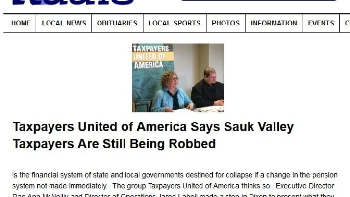My Rock River Radio | Taxpayers United of America Says Sauk Valley Taxpayers Are Still Being Robbed