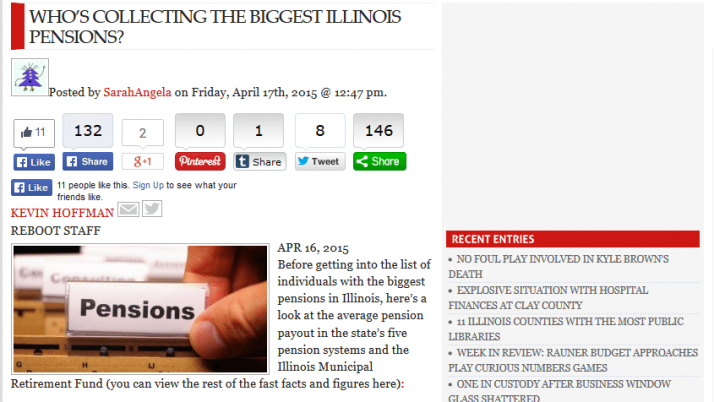 Disclosure News Online | WHO'S COLLECTING THE BIGGEST ILLINOIS PENSIONS?
