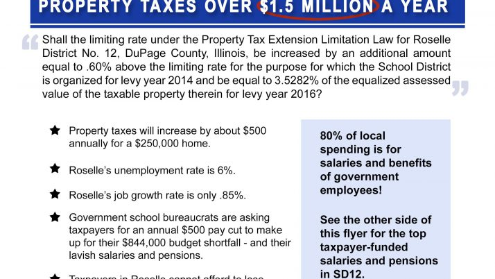 Taxpayer Group Fights Property Tax Increase Referenda March 15