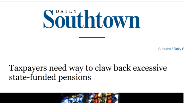 Chicago Tribune Taxpayers need way to claw back excessive state-funded pensions