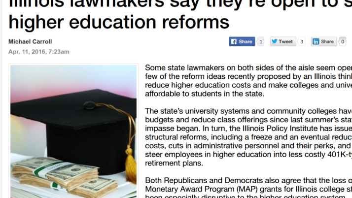 Madison Record Illinois lawmakers say they're open to some higher education reforms