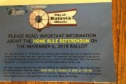 BATAVIA CITY OFFICIALS USE PUBLIC MONEY TO FIGHT MOVE TO REPEAL HOME RULE TAXING POWERS